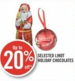 Selected Lindt Holiday Chocolates