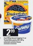 Cool Whip Dessert Topping 1 L or Tenderflake Pastry - 255-397 g