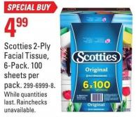 Scotties 2-ply Facial Tissue - 6-pack