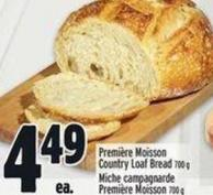 Première Moisson Country Loaf Bread 700 g