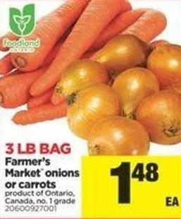 Farmer's Market Onions Or Carrots - 3 Lb Bag