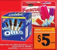 Mini Oreo Or Triple Rockets Or Ml Selection Ice Cream Or Novelties