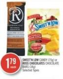 Sweet'n Low Candy (70g) or Ross Chocolates Chocolate Bars (34g)