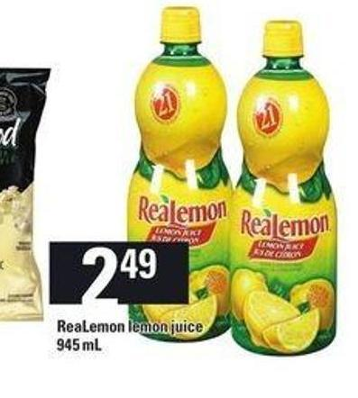 Realemon Lemon Juice - 945 mL