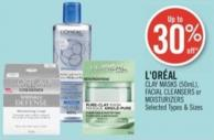 L'oréal Clay Masks (50ml) Facial Cleansers or Moisturizers