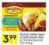 Old El Paso Hard or Soft Dinner Kits or Tortilla Bowl Kit 227-510 g