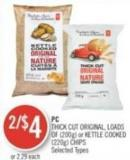 PC Thick Cut Original - Loads Of (200g) or Kettle Cooked (220g) Chips