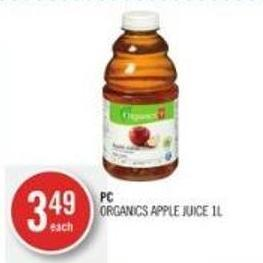 PC Organics Apple Juice 1l
