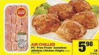 PC Free From Boneless Skinless Chicken Thigh