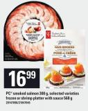 PC Smoked Salmon - 300 G Or Shrimp Platter With Sauce 568 G