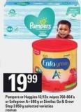 Pampers Or Huggies 12/13x Wipes 768-864's Or Enfagrow A+ 680 G Or Similac Go & Grow Step 3 850 G