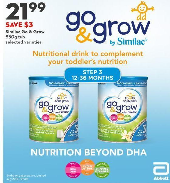 Similac Go & Grow 850g Tub