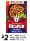 Betty Crocker Hamburger or Tuna Helper