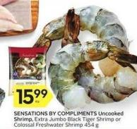 Sensations By Compliments Uncooked Shrimp