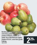 Bartlett Pears - Empire Apples - Fuji Or Red Delicious Apples