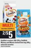 Goldfish Crackers - 180-220 G - Goldfish Mickey And Minnie Limited Time Bag - 180 G