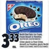 Nestl' Real Dairy Ice Cream - Frozen Dessert Or Novelties