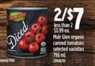 Muir Glen Organic Canned Tomatoes - 796 mL