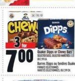 Quaker Dipps Or Chewy Bars | Barres Dipps Ou Tendres Quaker