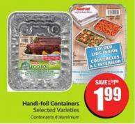 Handi-foil Containers