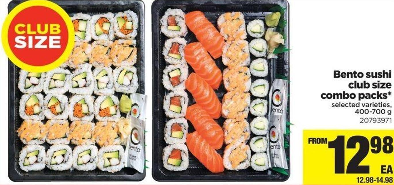 Bento Sushi Club Size Combo Packs - 400-700 G
