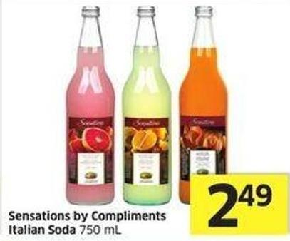 Sensations By Compliments Italian Soda