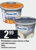 Philadelphia Cream Cheese or Dips 340 g Selected Varieties