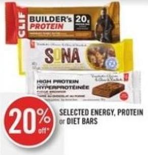 Selected Energy - Protein  or Diet Bars