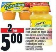 Mott's Fruitsations Fruit Snacks Or Apple Sauce