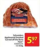 Schneiders Applewood Smoked Carved Off The Bone Ham