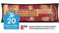 Sensations By Compliments Thick Maplewood Bacon 500 g - 20 Air Miles Bonus Miles