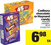 Cadbury Chocolate Or Maynard Candy - 45 Ct