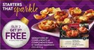 Sensations By Compliments or Compliments Meat or Seafood Appetizers 250-800 g