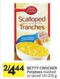 Betty Crocker Potatoes Mashed or Sliced