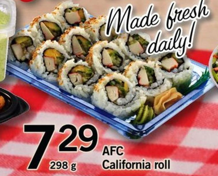 Afc California Roll - 298 G
