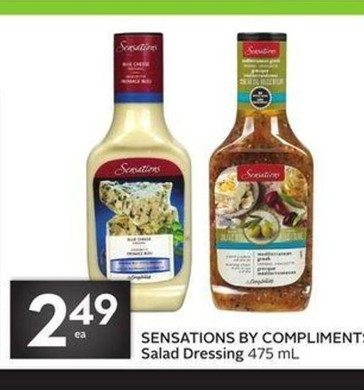 Sensations By Compliments Salad Dressing