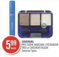 Covergirl Pro Curve Mascara - Eyeshadow Trio or Cheekers Blush