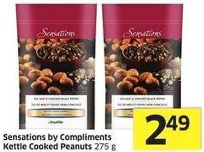 Sensations By Compliments Kettle Cooked Peanuts 275 g