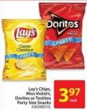 Lay's Chips Miss Vickie's Doritos or Tostitos Party Size Snacks