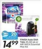 Finish Auto Dish Tabs - 20 Air Miles Bonus Miles