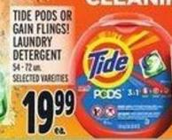 Tide PODS Or Gain Flings! Laundry Detergent 54 - 72 Un.