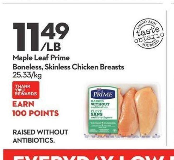 Maple Leaf Prime Boneless - Skinless Chicken Breasts