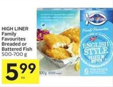 High Liner Family Favourites Breaded or Battered Fish