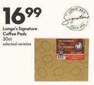 Longo's Signature  Coffee Pods  30ct