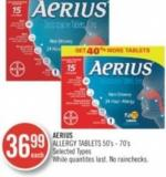 Aerius Allergy Tablets 50's - 70's
