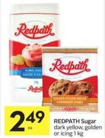 Redpath Sugar Dark - Yellow - Golden or Icing 1 Kg