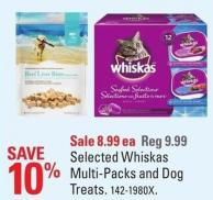 Selected Whiskas Multi-packs and Dog Treats