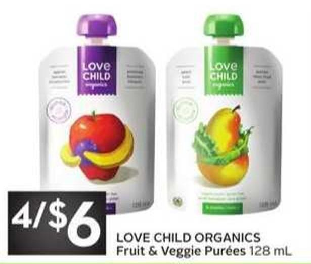 Love Child Organics Fruit & Veggie Purées