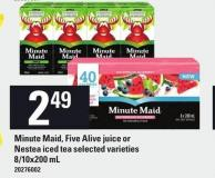 minute maid five alive juice or nestea iced tea 810x200 ml