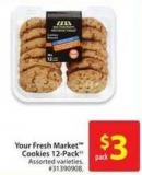 Your Fresh Market Cookies 12 Pack